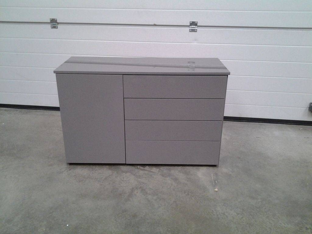 New Mid Grey High Gloss Small Sideboard / Dresser (#6 of 15)