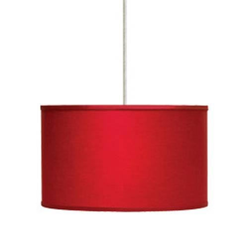 Nice Red Pendant Light Red Drum Shade Pendant Light Bellacor With Regard To Most Popular Large Red Pendant Lights (View 6 of 15)