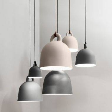 Normann Copenhagen Contemporary Bell Pendant Light With Fabric For Newest Bell Pendant Lights (#13 of 15)