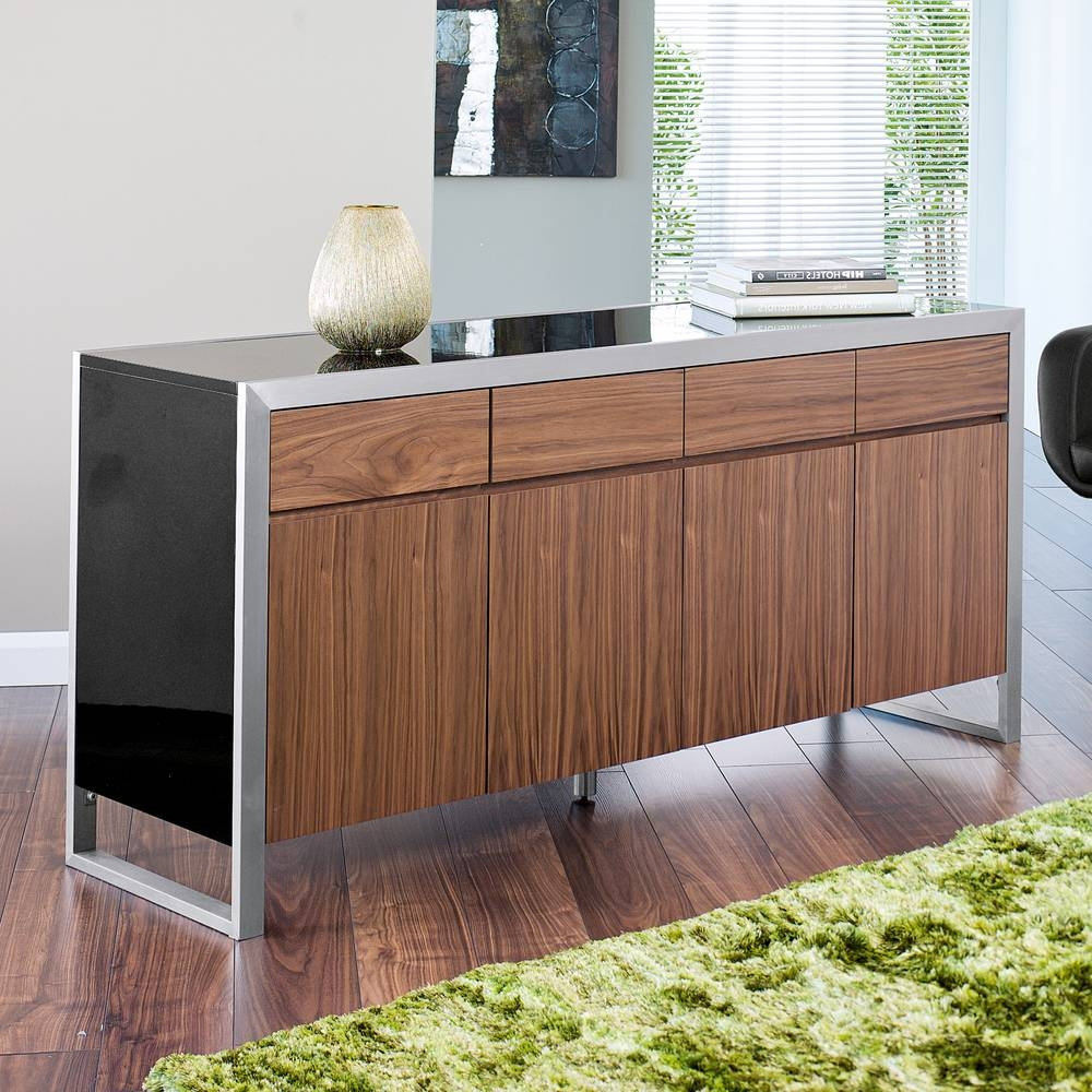 Nova Sideboard – Dwell Within Walnut And Black Sideboards (#9 of 15)