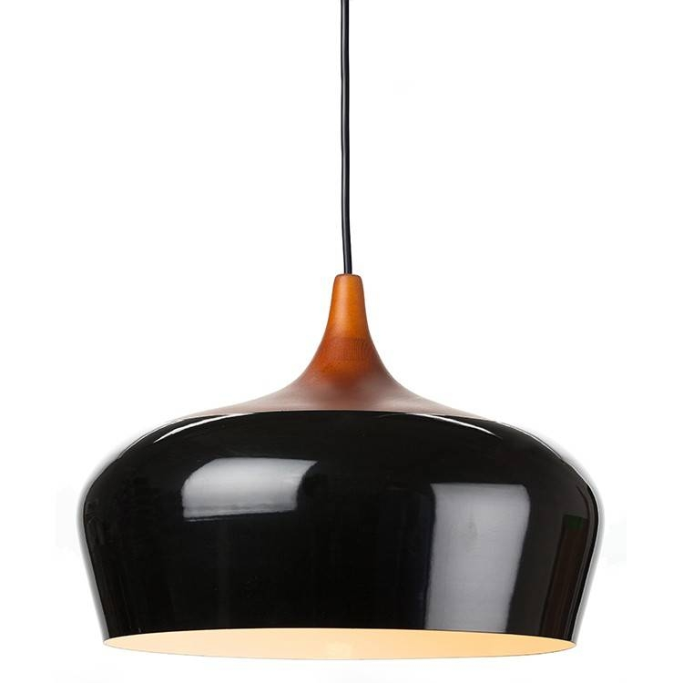 Nuevo Living Liam Wooden Pendant Lamp In Black Large At Modernist Regarding Most Recently Released Black Pendant Lights (#13 of 15)