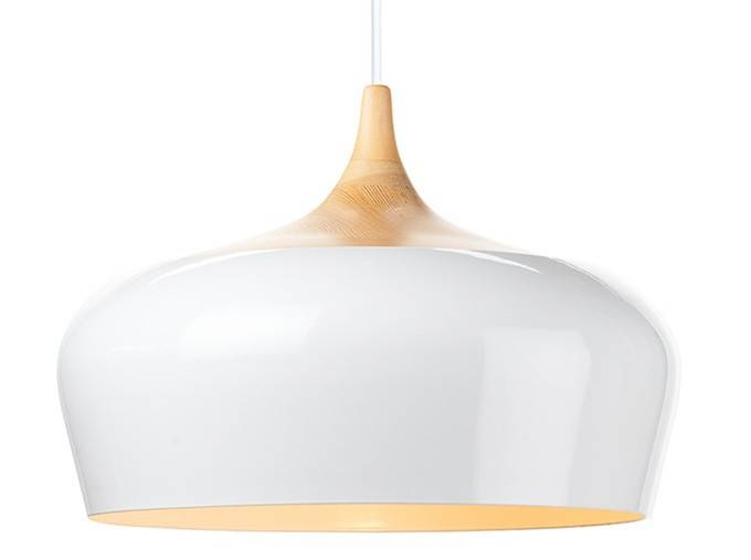 Nuevo Living Liam Wooden Pendant Lamp In White Large At Modernist Throughout Recent Large White Pendant Lights (#13 of 15)
