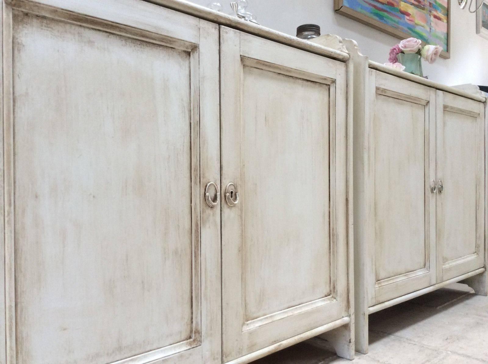 Of Pine Painted Cream Sideboard Freestanding Kitchen Unit Cupboard For Free Standing Kitchen Sideboards (#9 of 15)