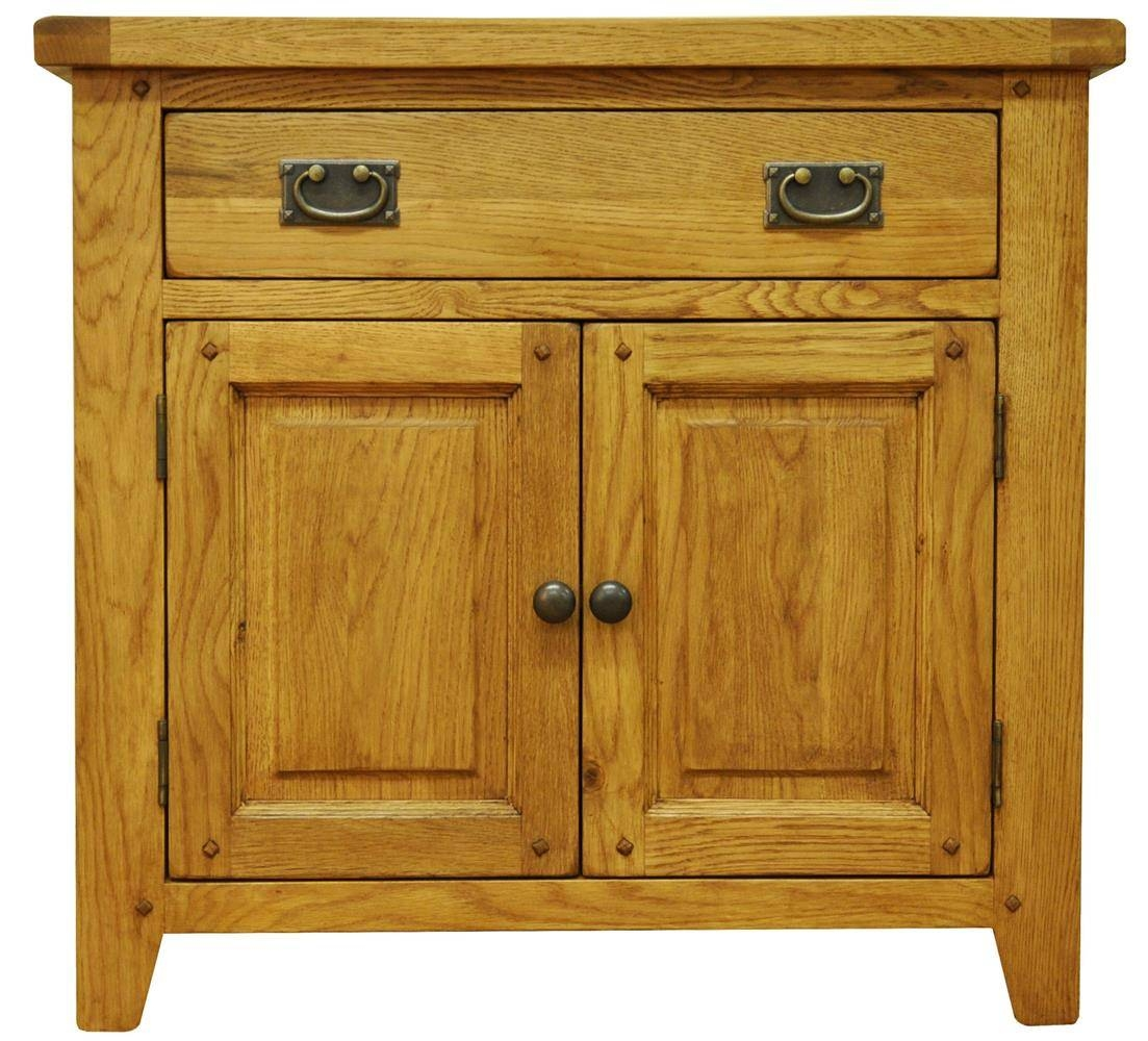 Oldbury Small Rustic Oak Sideboardstanton Small Rustic Oak For Small Wooden Sideboards (#8 of 15)