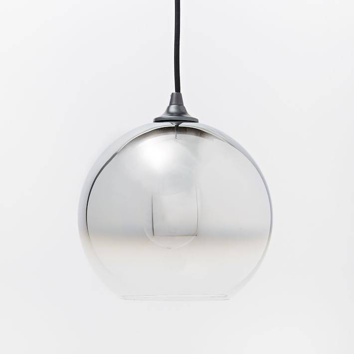 Ombre Mirrored Pendant | West Elm Inside Most Up To Date Mirror Pendant Lights (#13 of 15)