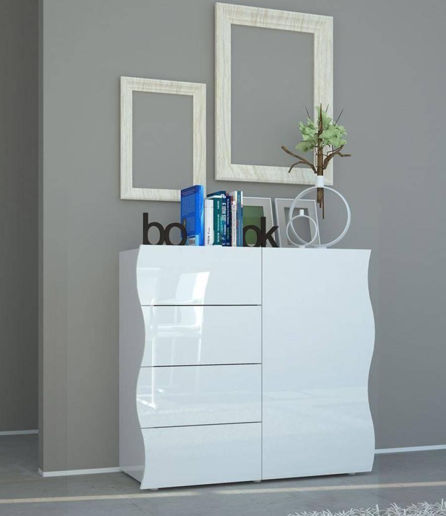 Onda High Gloss Sideboard | Modern Black Or White Sideboard In Gloss White Sideboards (View 8 of 15)