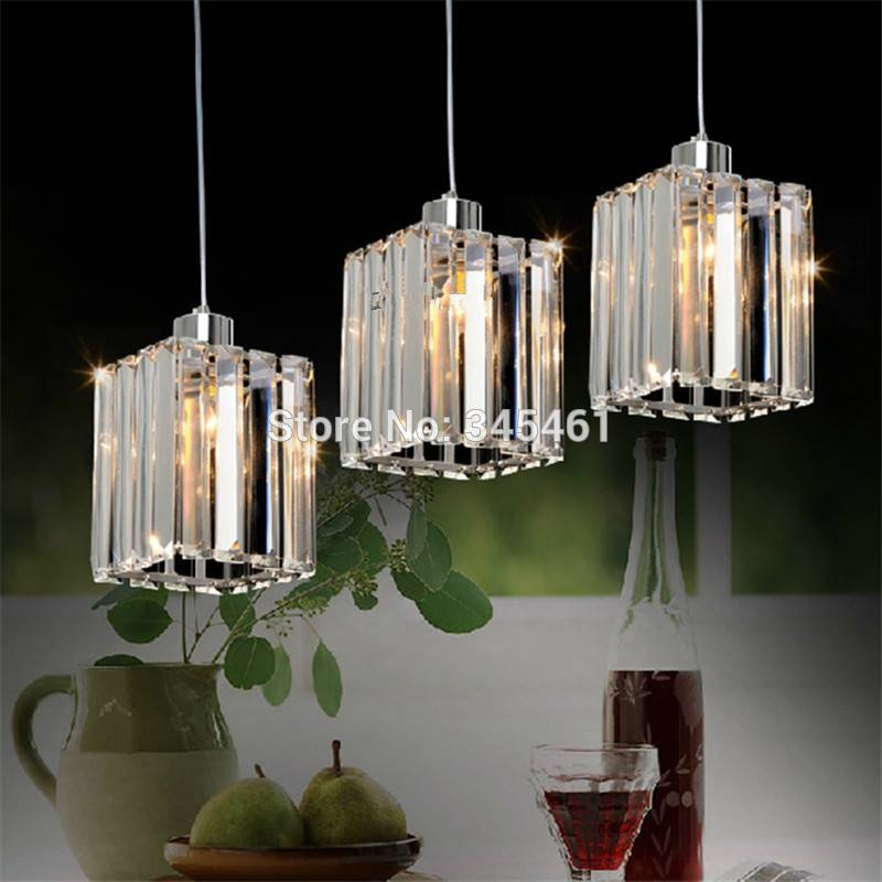 Online Shop Modern Crystal Pendant Light Kitchen Aisle Crystal Led With Regard To Recent Crystal Led Pendant Lights (View 7 of 15)