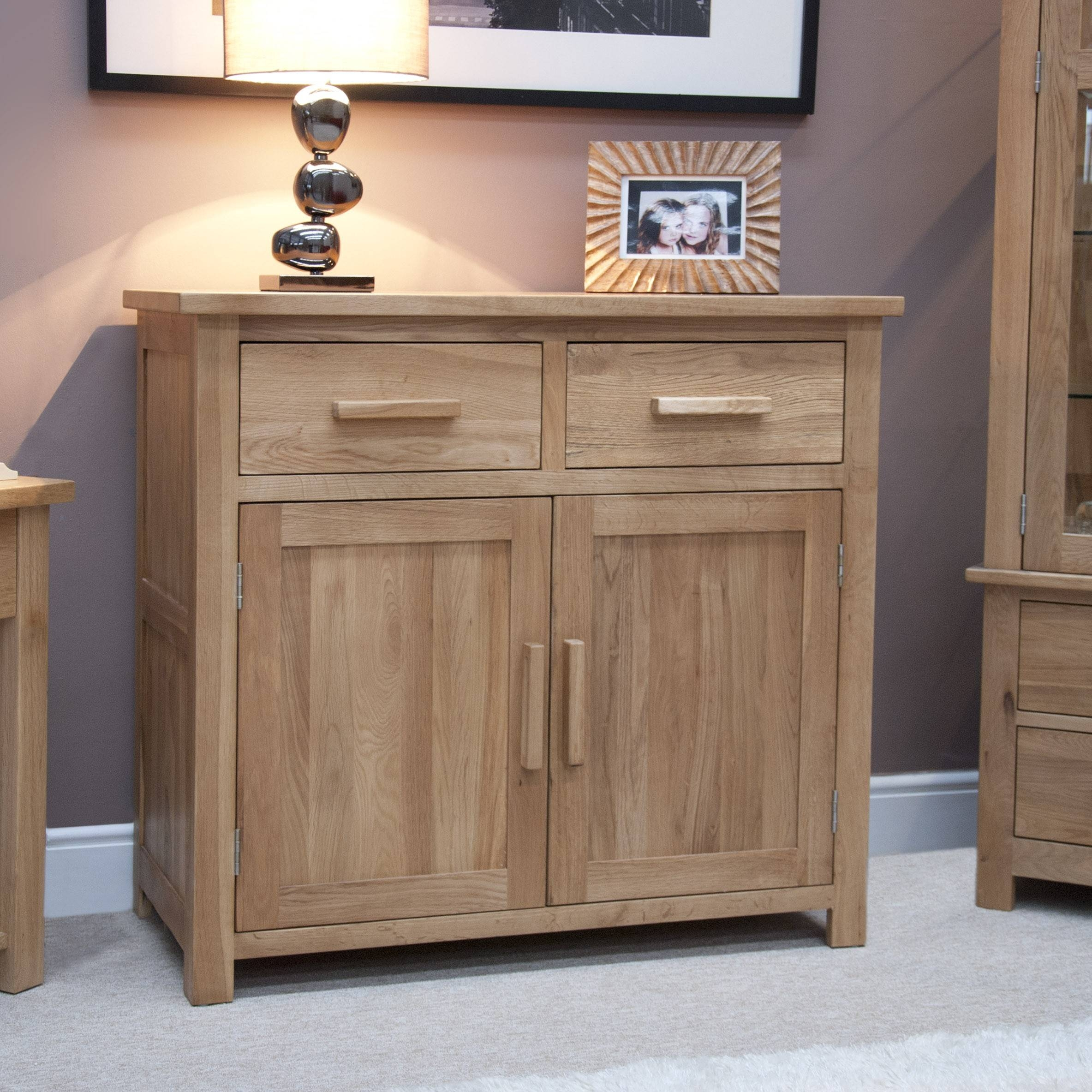 Opus Oak Furniture Small Sideboard | Furniture4Yourhome With Regard To Small Wooden Sideboards (#9 of 15)