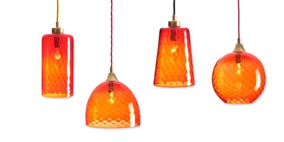 Orange Glass Pendant Light With Rothschild Bickers Lights Set Of With Best And Newest Orange Pendant Lights (#10 of 15)