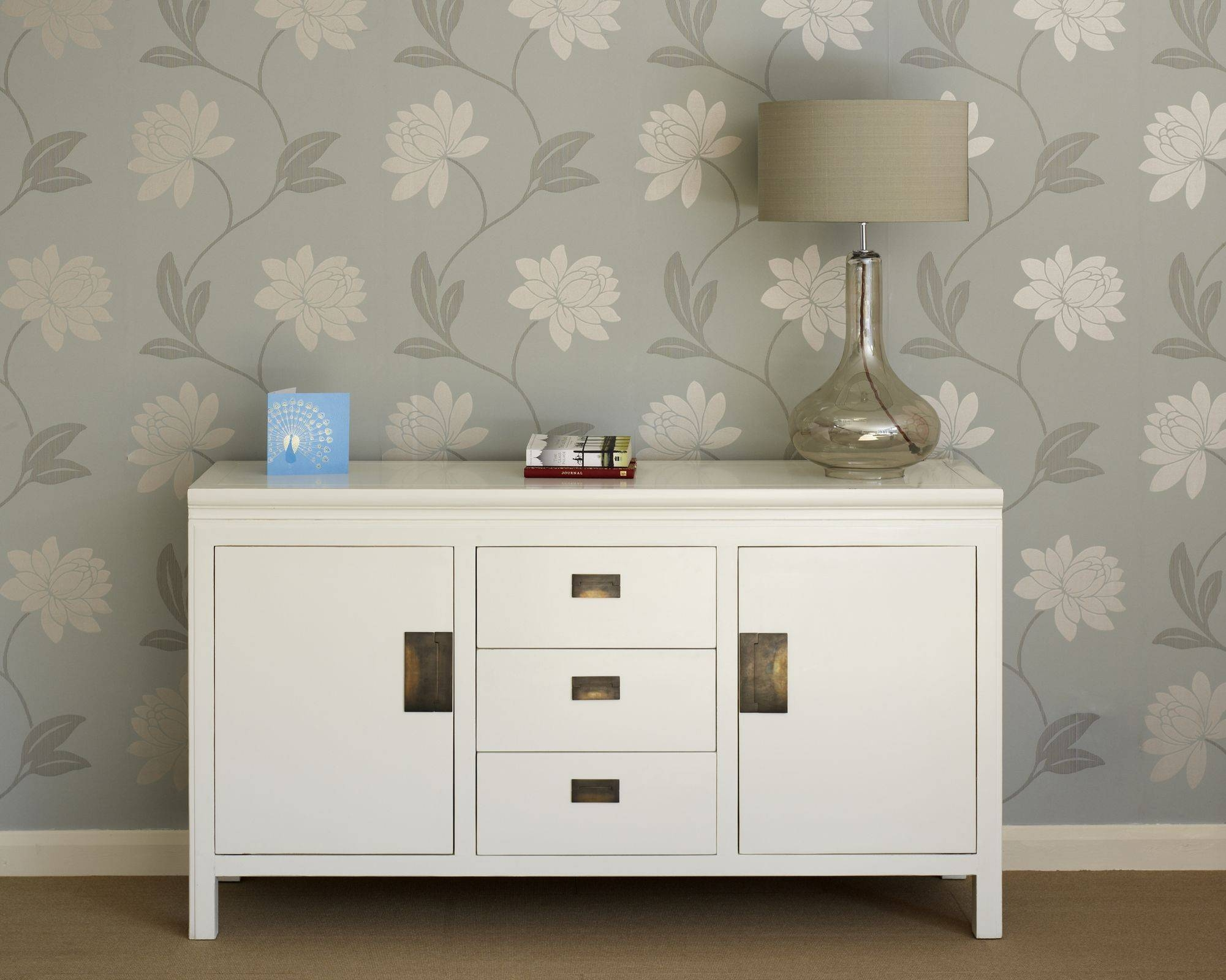 Oriental White Lacquer Sideboards – Shanxi Throughout Large White Sideboards (#11 of 15)