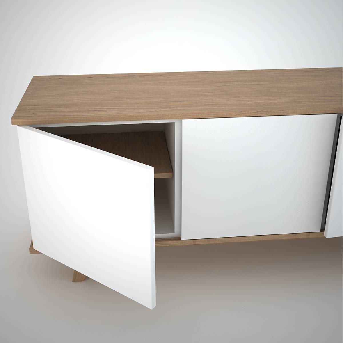 Ottawa Sideboard (3) White – Join Furniture With Regard To White And Wood Sideboards (#6 of 15)