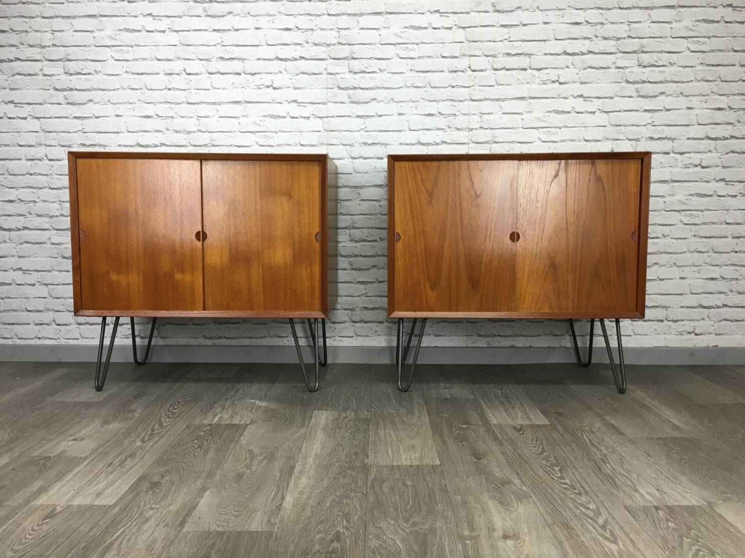 Pair Of Matching Retro Poul Cadovius Cado Teak Sideboards Units On Throughout Sideboards Units (#6 of 15)