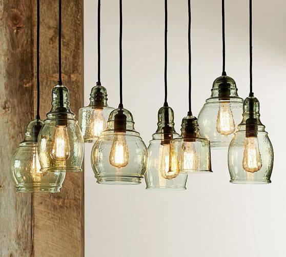 Paxton Glass 8 Light Pendant | Pottery Barn Inside Glass 8 Light Pendants (#9 of 15)