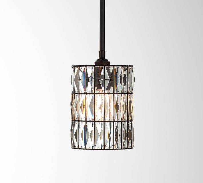 Pb Classic Adeline Crystal Pendant | Pottery Barn Inside Best And Newest Classic Pendant Lights (#10 of 15)