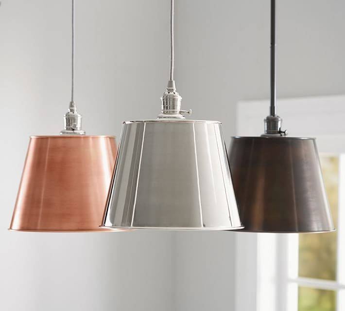 Pb Classic Tapered Metal Pendant | Pottery Barn Regarding Most Recently Released Classic Pendant Lighting (#10 of 15)