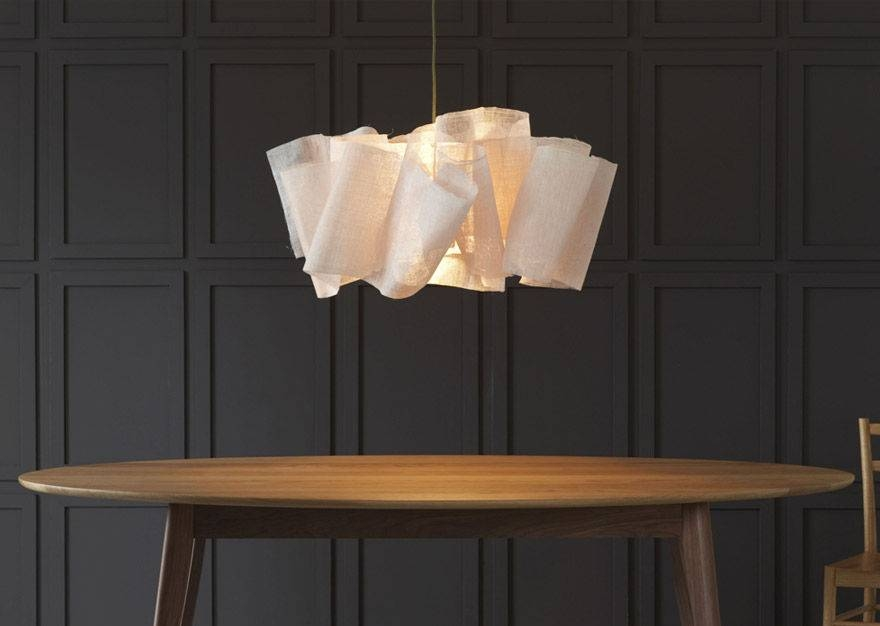 Pendant Lamp / Original Design / Fabric – Anders – Pinch With Most Current Fabric Pendant Lighting (#11 of 15)