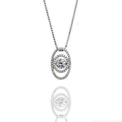 Pendants :: Dancing Diamond Pendants :: Nana Sterling Silver & Cz For Most Current Dancing Pendants (View 4 of 15)