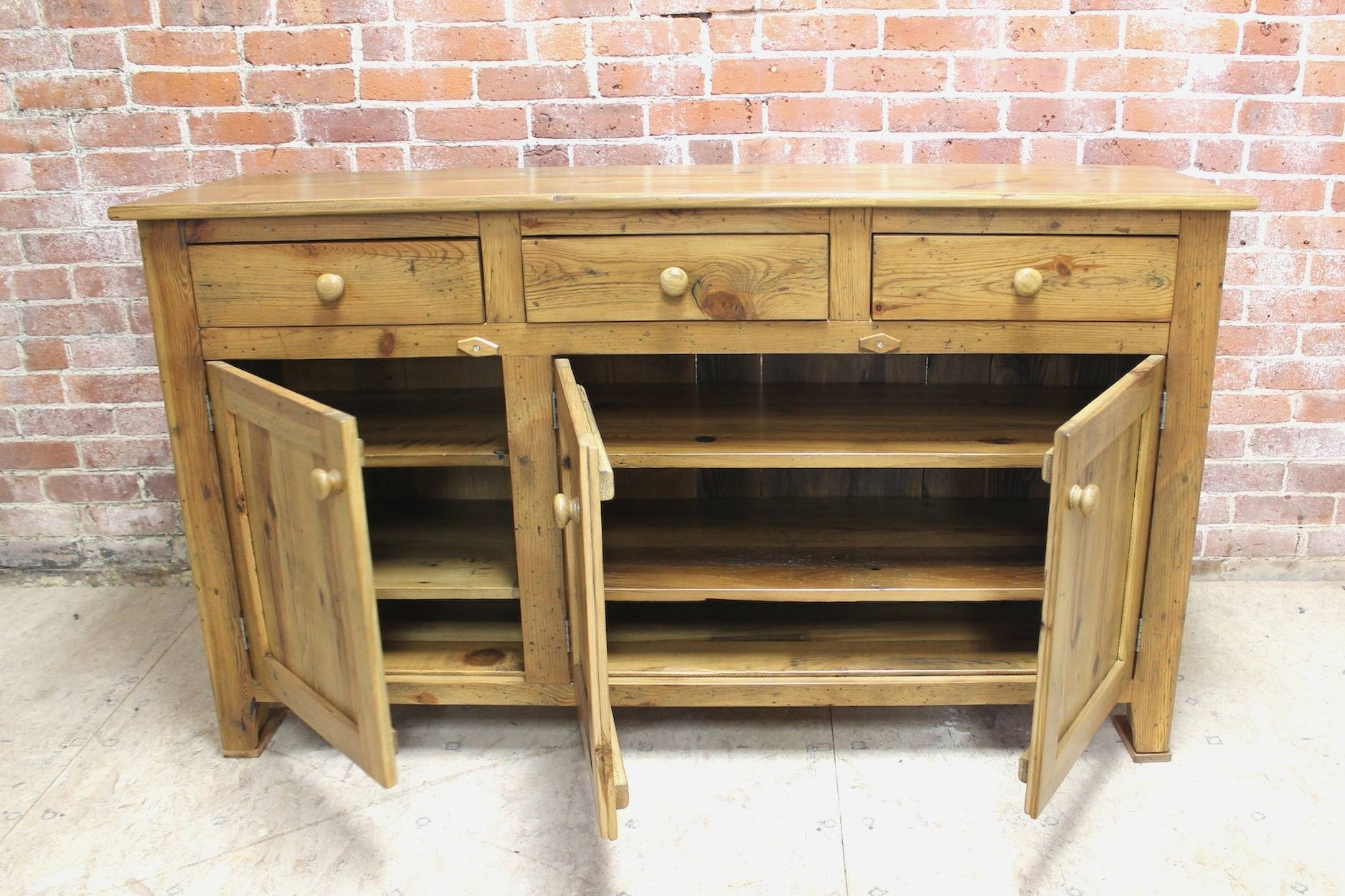 Pine Sideboards And Buffets: Pine Sideboards And Buffets Wonderful Within Pine Sideboards And Buffets (#11 of 15)