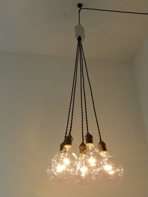 Plug In Cluster Chandelier Pendant Lighting Modern Swag Custom For Best And Newest Multiple Bulb Pendant Lights (View 13 of 15)