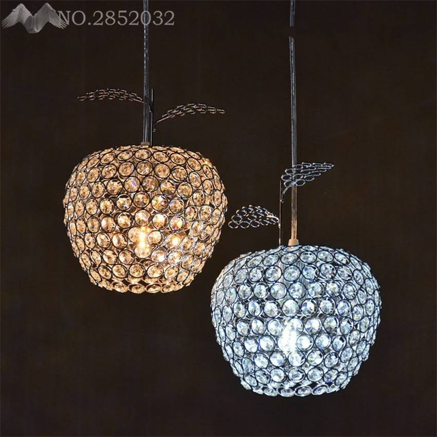 Popular Crystal Apple Light Buy Cheap Crystal Apple Light Lots Regarding Most Popular Apple Pendant Lights (View 15 of 15)