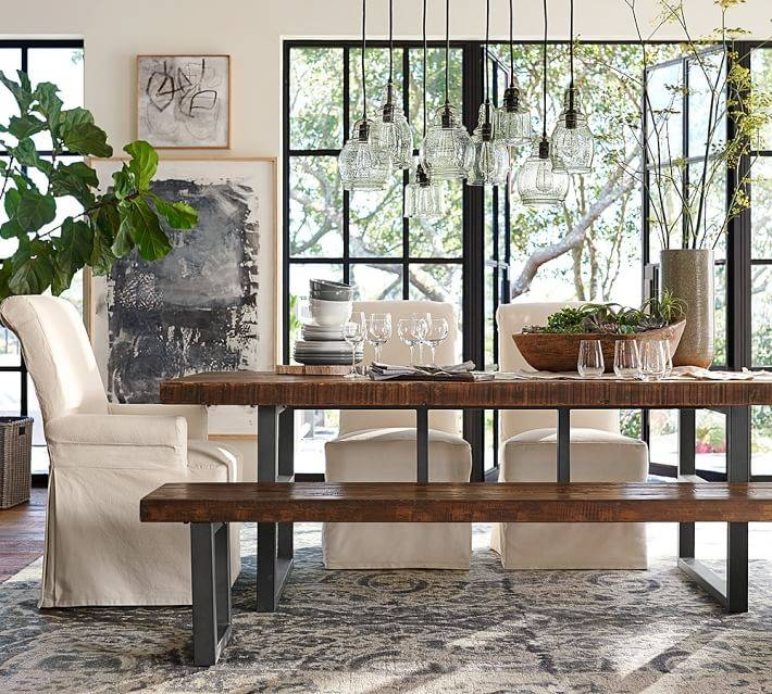 Pottery Barn Paxton Glass 8 Light Pendant – Copycatchic Pertaining To Paxton Hand Blown Glass 8 Light Pendants (View 7 of 15)