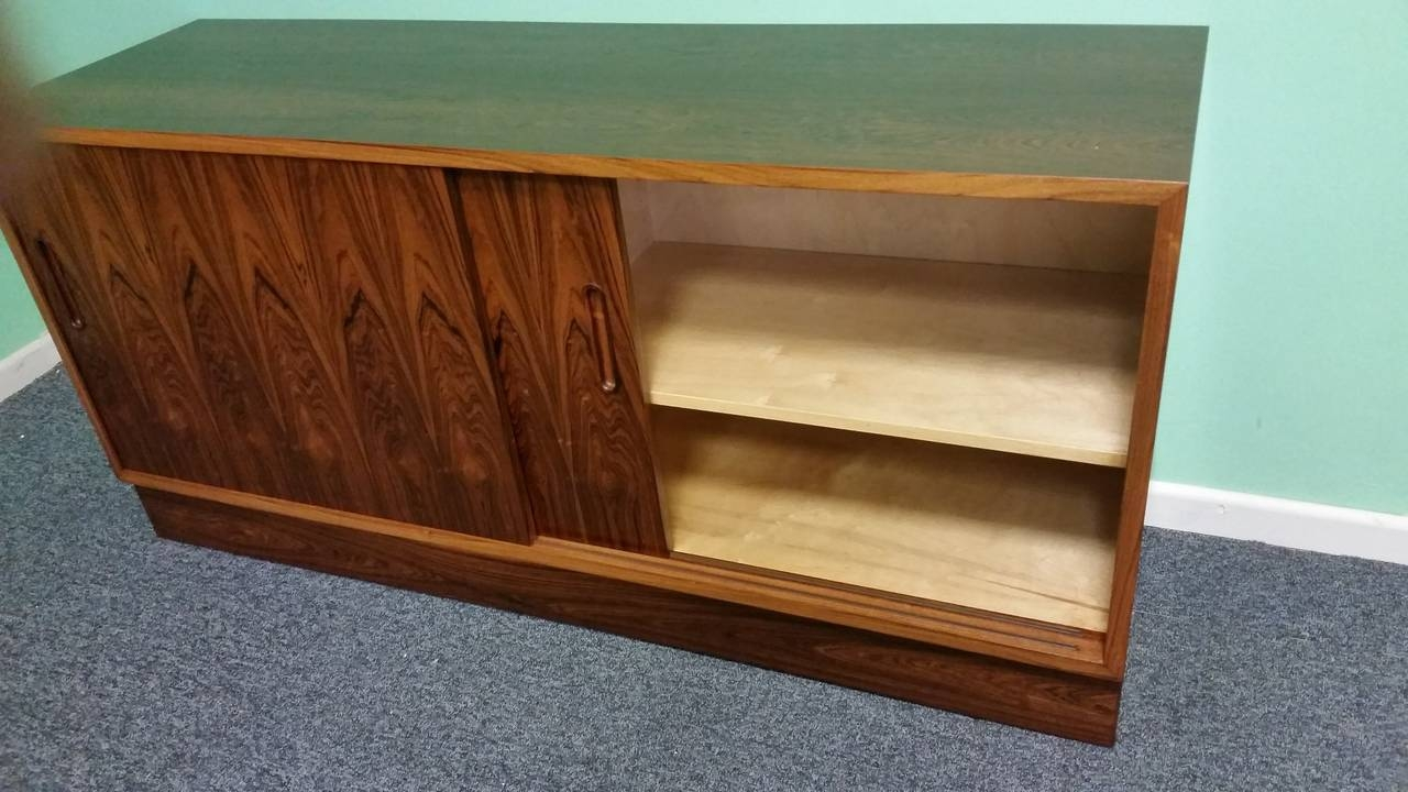 Poul Hundevad Rosewood Low Unit At 1stdibs Within Long Low Sideboards (View 3 of 15)
