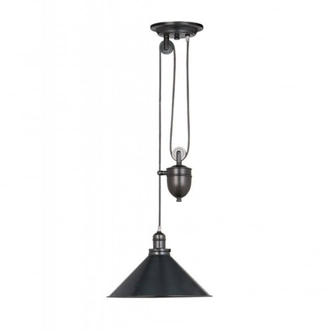 Pull Up And Down Rise And Fall Ceiling Light, Retro Style In Bronze With Regard To Most Current Up And Down Pendant Lights (#9 of 15)