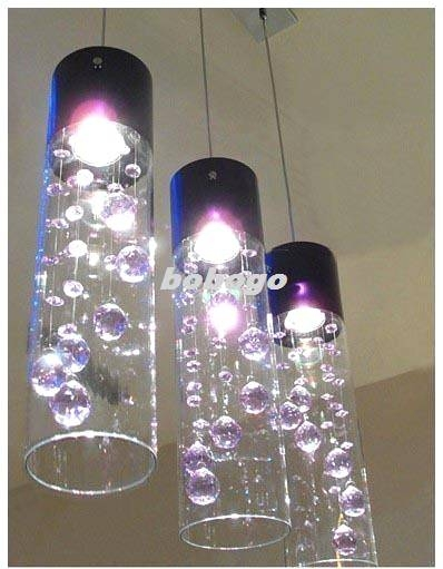 Purple Glass Pendant Lights With Discount Shade Crystal Ceiling Throughout 2017 Glass Pendant Lights Shades (#14 of 15)