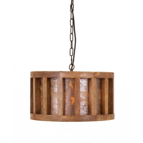 Inspiration about Reagan Wood And Stone Pendant Light – Free Shipping Today Regarding 2018 Stone Pendant Lights (#2 of 15)