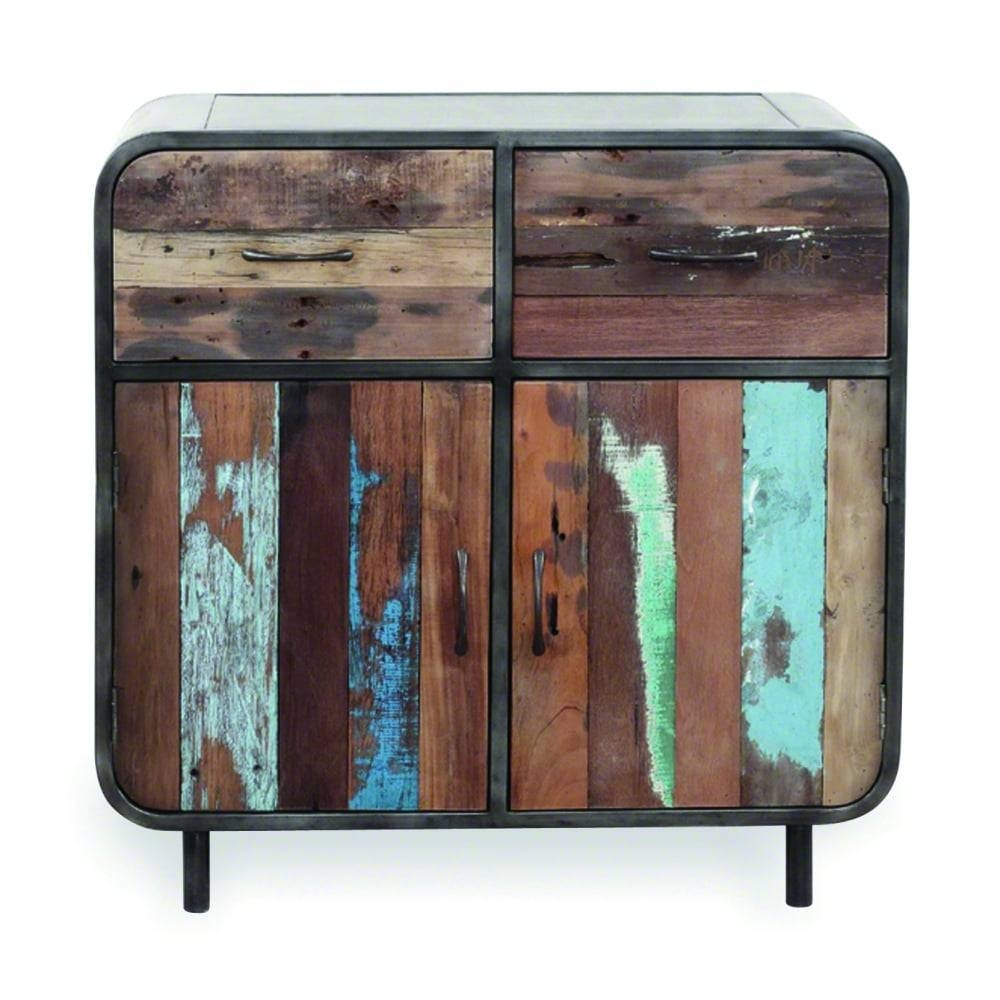 Reclaimed Wood Havana 2 Drawer 2 Door Sideboard | Modern Storage Intended For Retro Buffet Sideboards (#7 of 15)