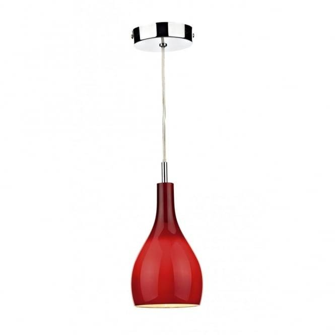 Red Glass Ceiling Pendant, Dimmable With Regard To Current Red Glass Pendant Lights (#12 of 15)