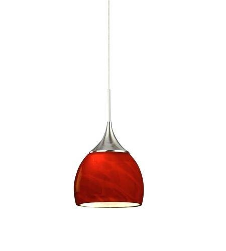 Inspiration about Red Light Pendant Led 5 Inch Satin Nickel Mini Pendant Ceiling Pertaining To 2017 5 Inch Pendant Lights (#12 of 15)