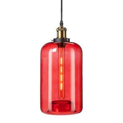 Red – Mini – Pendant Lights – Hanging Lights – The Home Depot Pertaining To Newest Red Glass Pendant Lights (#7 of 15)