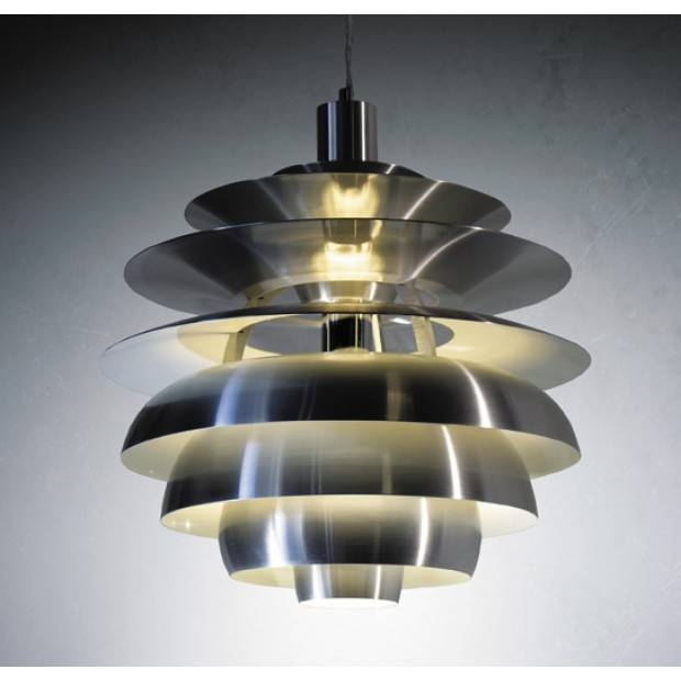 Replica Louis Poulsen Ph Snowball Pendant Lamp (Silver) Pertaining To Most Recent Ph Snowball Pendants (#13 of 15)