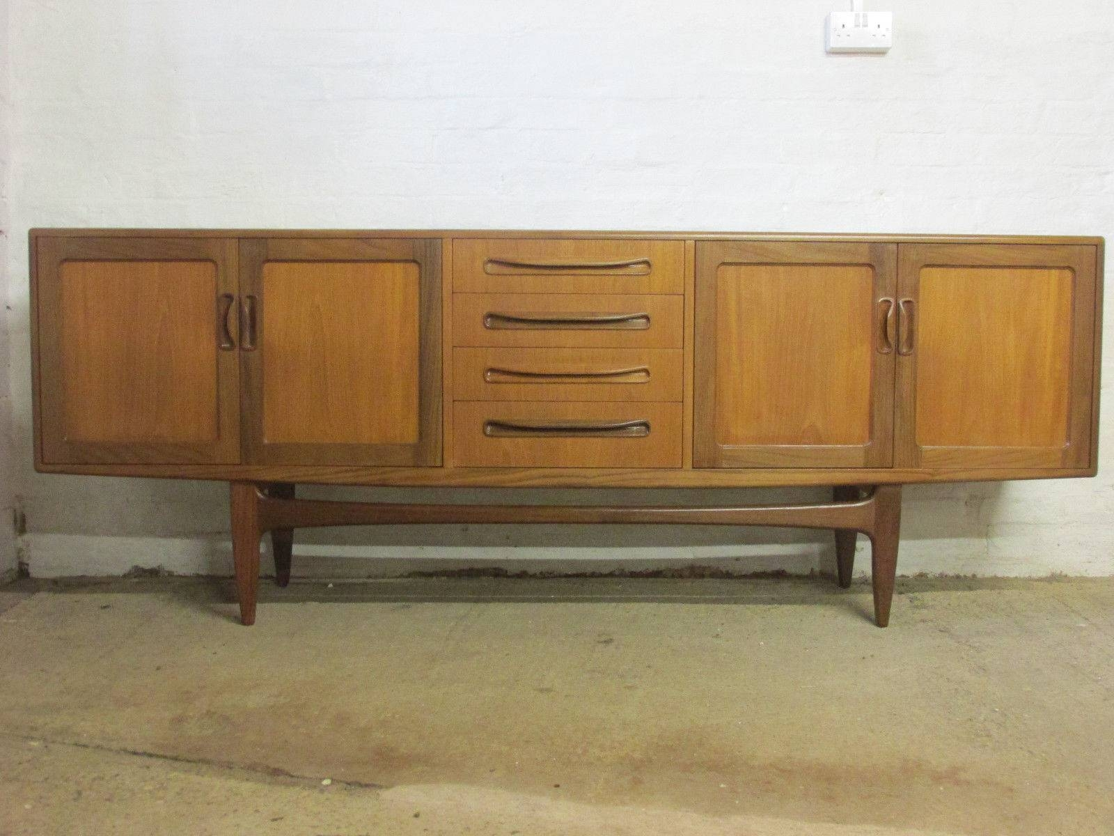 Retro 1960S/1970S G Plan Fresco 7 Ft Teak Sideboard With Cupboards For 7 Foot Sideboards (View 7 of 15)