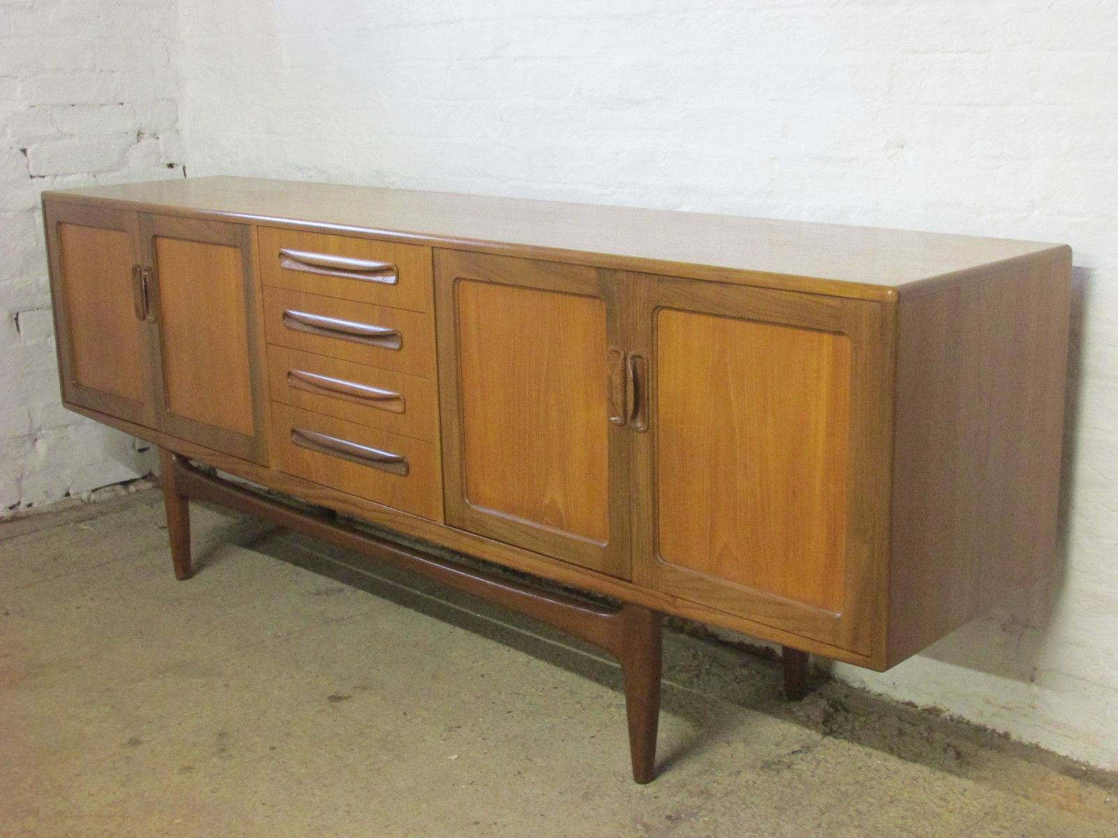 Retro 1960S/1970S G Plan Fresco 7 Ft Teak Sideboard With Cupboards In 7 Foot Sideboards (View 8 of 15)