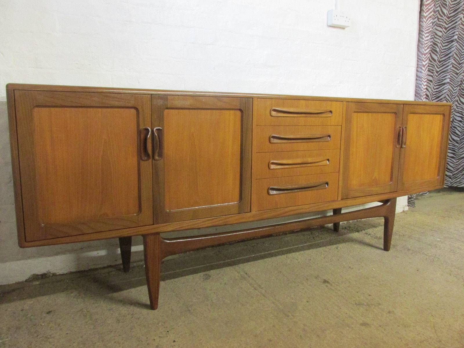 Retro 1960S/1970S G Plan Fresco 7 Ft Teak Sideboard With Cupboards With Regard To 7 Foot Sideboards (View 10 of 15)