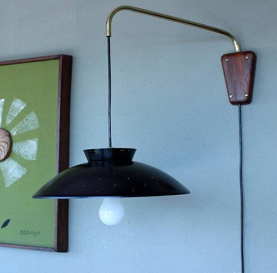Inspiration about Retro Wall Mounted Light Mid Century Modern Lighting Within Wall Mounted  Pendant Light Prepare With Regard To Newest Wall Pendant Lights (#14 of 15)