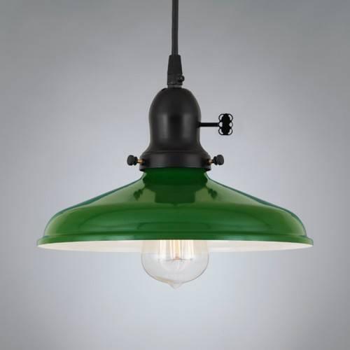 Richmond Green Vintage Pendant Light – Vintage Metal & Glass Pertaining To Recent Vintage Pendant Lights (View 6 of 15)