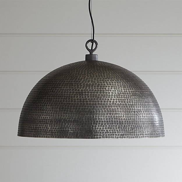 Inspiration about Rodan Hammered Metal Pendant Light | Crate And Barrel Intended For Crate And Barrel Pendants (#3 of 15)