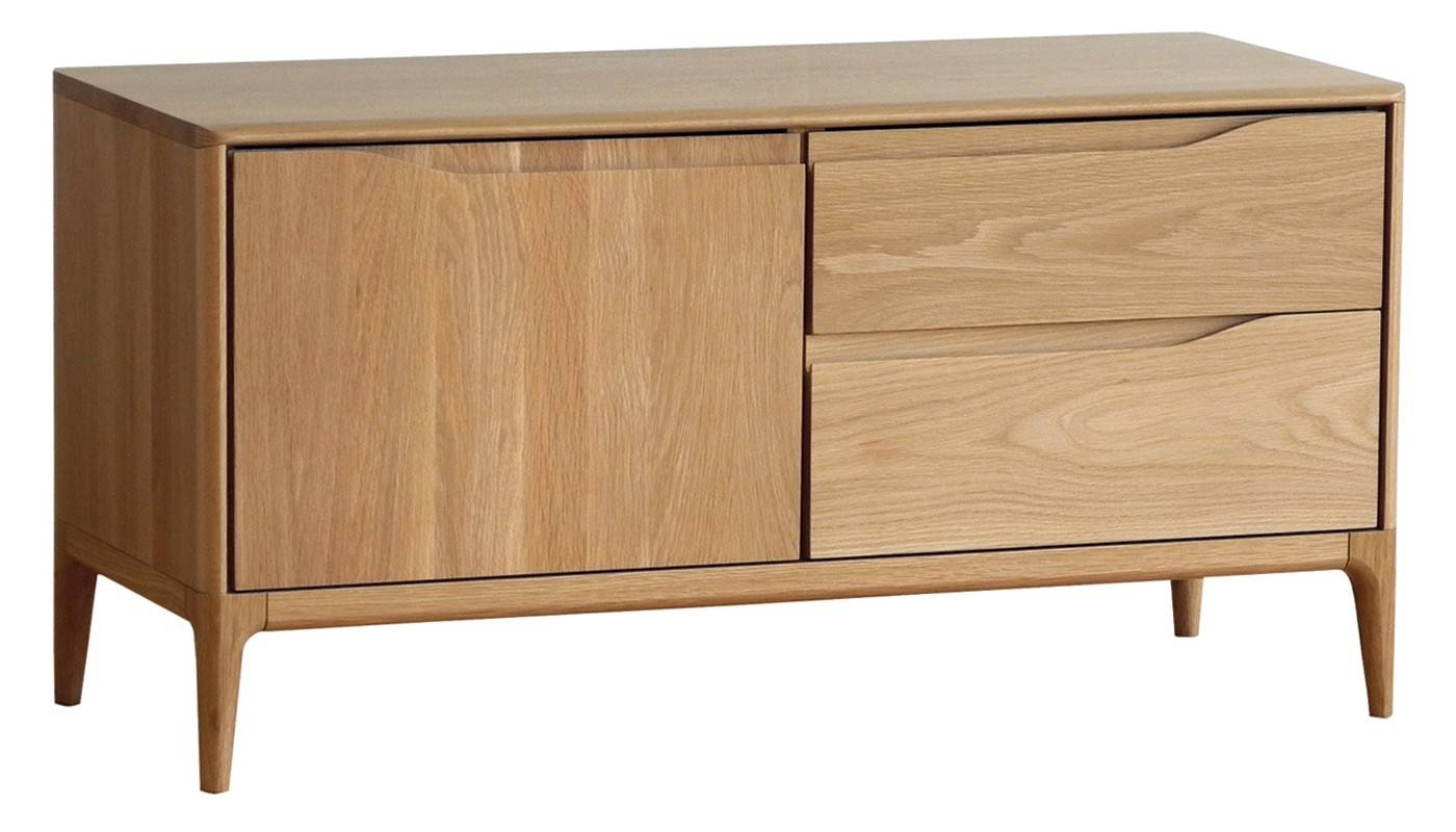Romana Ir Small Av Unit Dead Matt Oak For Small Wooden Sideboards (#11 of 15)