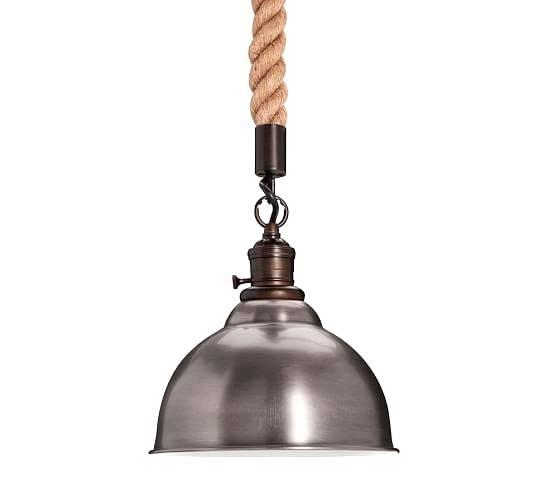 Rope Cord Pendant Light With Pb Classic Kit Pottery Barn And 4 Pb Inside Most Up To Date Classic Pendant Lighting (#14 of 15)