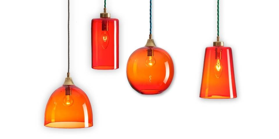 Inspiration about Rothschild & Bickers Glass Pendant Lights – Set Of Four | The Within 2018 Coloured Pendant Lights (#15 of 15)