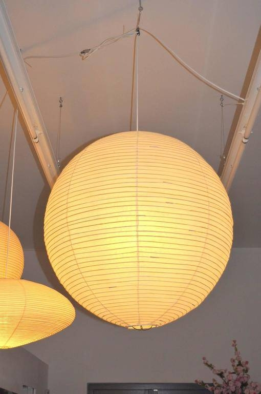 "Inspiration about Round ""akari"" Hanging Lampisamu Noguchi For Akari, Japan Within Best And Newest Noguchi Pendants (#6 of 15)"