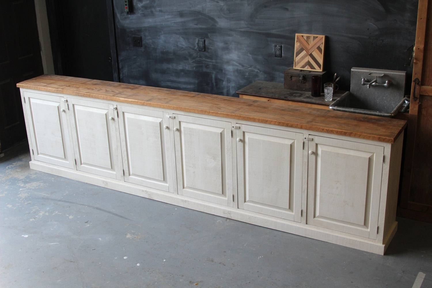 Rustic French Farmhouse Country Sideboard Buffet Cabinet With Reclaimed Oak Sideboards (View 10 of 15)