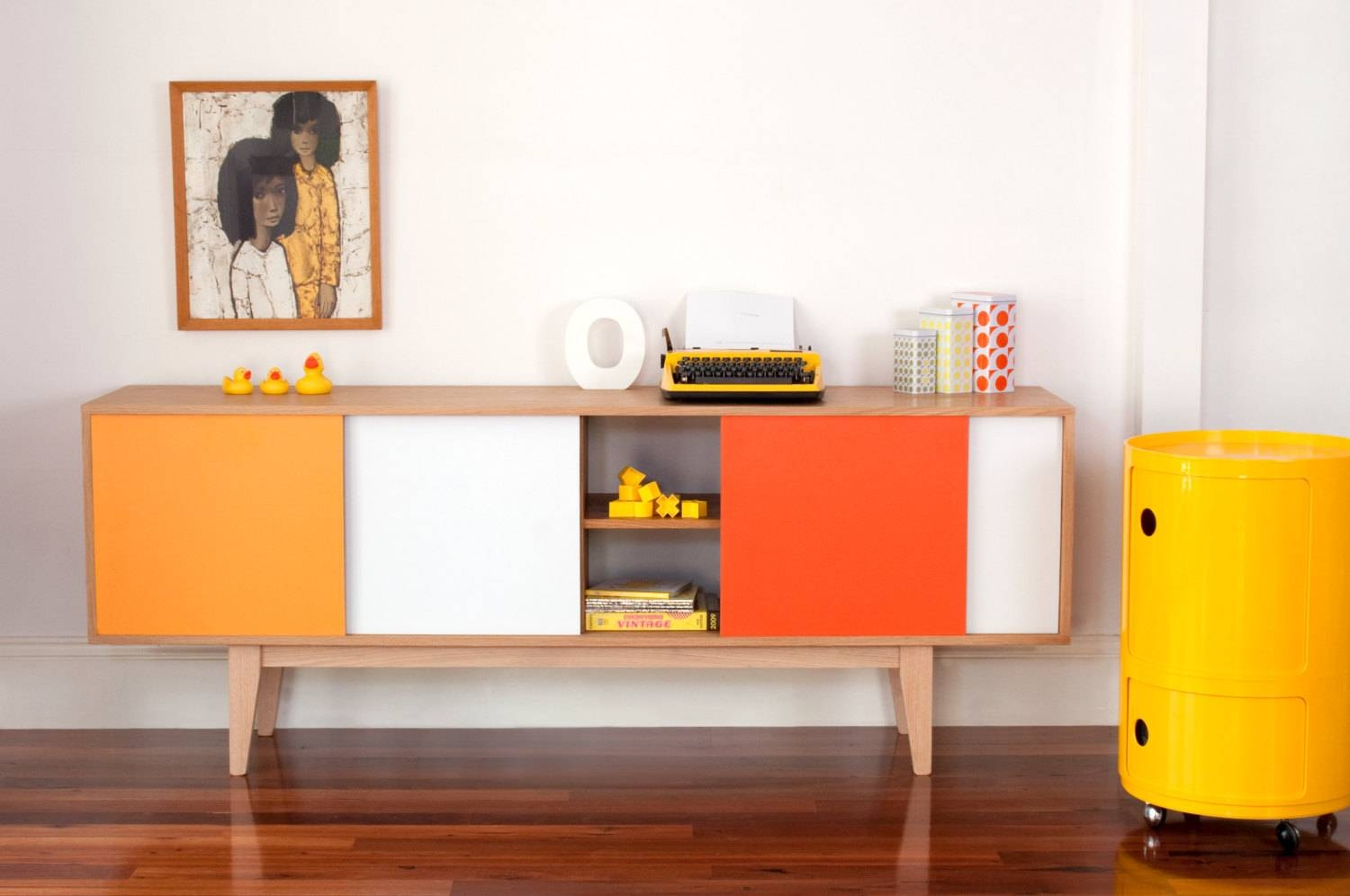 S180 Sideboard Mid Century Modern Entertainmnet Unit Vintage Within Retro Buffet Sideboards (#8 of 15)