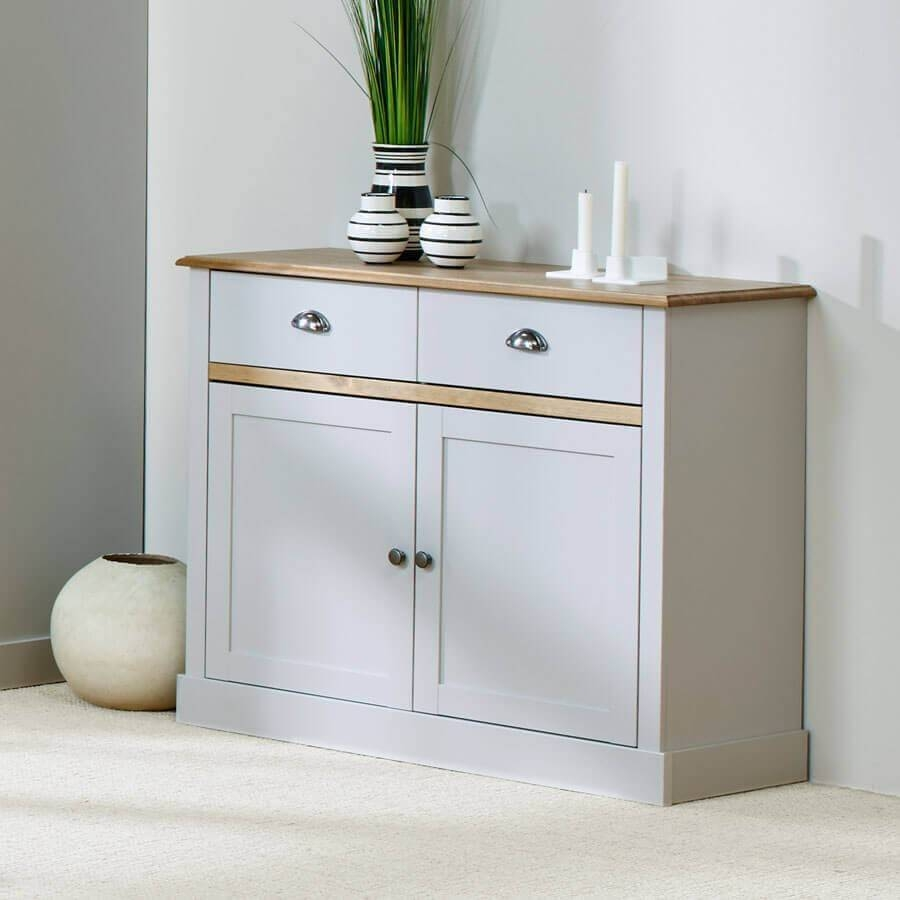 Sandy Grey Large And Small Sideboards | Zurleys Throughout Grey Sideboards (#8 of 15)