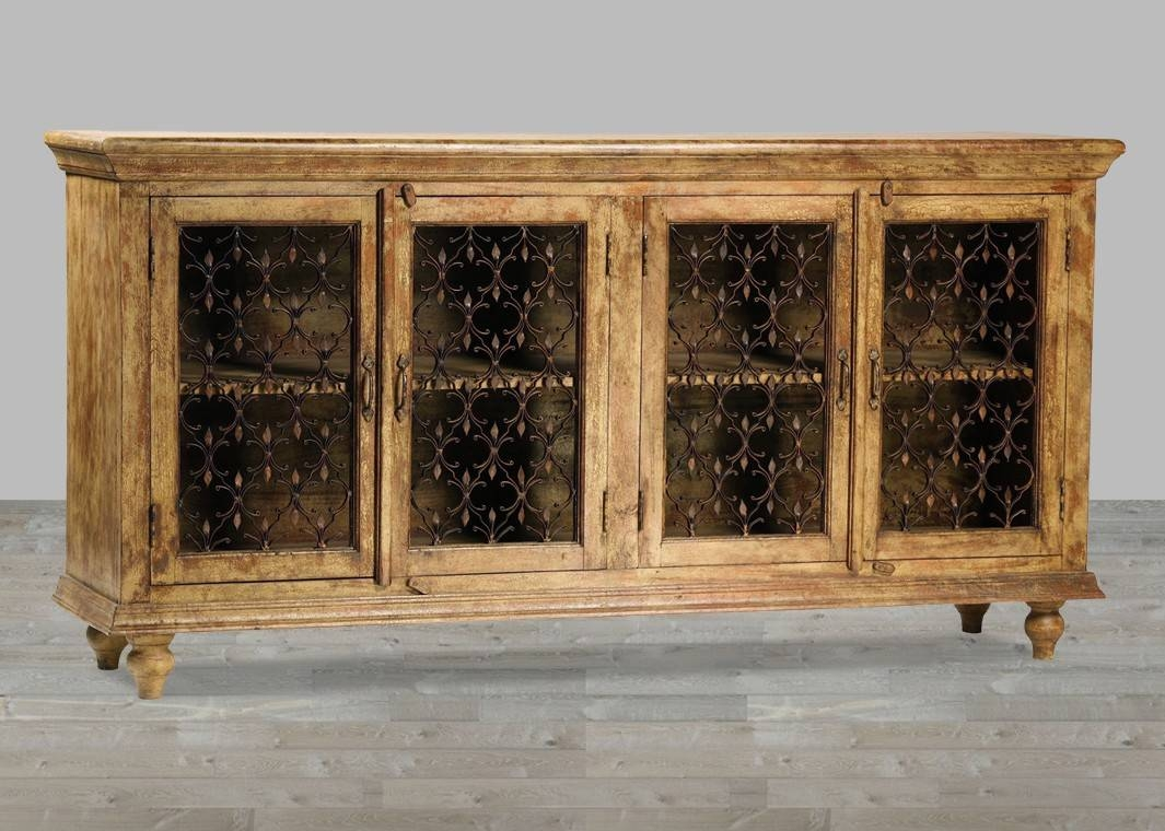 Santa Fe Truffle Crackle Sideboard With Regard To Santa Fe Sideboards (#10 of 15)
