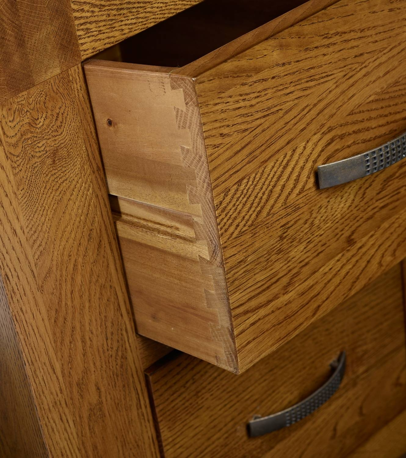 Santana Reclaimed Oak Close Up Drawer Throughout Reclaimed Oak Sideboards (View 14 of 15)