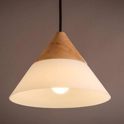 Scandinavian Pendant Lights Oak+Glass+Iron Dinning Room Pendant In Most Current Scandinavian Pendant Lighting (#12 of 15)